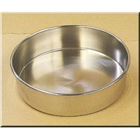 7.460.04 - Siebe pan for dry sieving, made of stainless steel  ø 400 x 65 mm